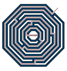 octagonal labyrinth vector image vector image