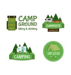 Outdoor Activity Tourism Travel Logo Vintage vector image