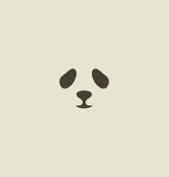 panda face logo seal logotype sea lion vector image