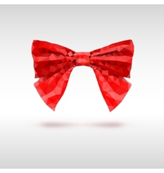 Red bow of triangles geometric vector