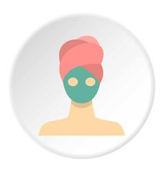 spa facial clay mask icon circle vector image
