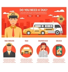 Taxi Service Infographics vector image vector image