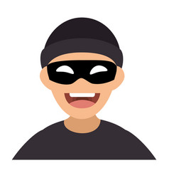 thief avatar character icon vector image vector image