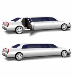 white limousine set vector image