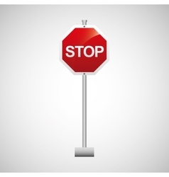 Sign traffic stop icon design vector