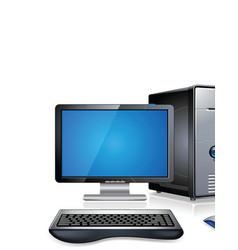computer workstation vector image