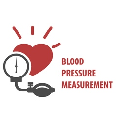 Blood pressure measurement icon vector