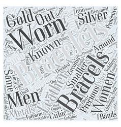 Cubic zirconia bracelets word cloud concept vector