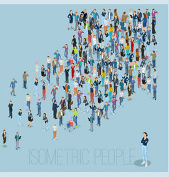 People crowd arrow vector