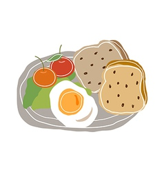 A food plate vector