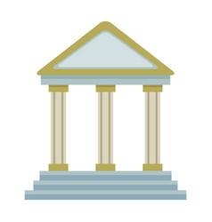 Bank building financial business symbol vector