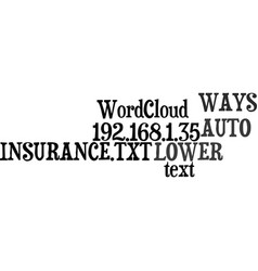 Ways to lower your auto insurance text word cloud vector