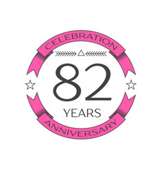 Realistic eighty two years anniversary celebration vector