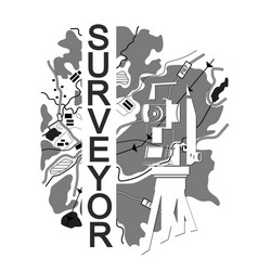 Symbol for surveyor vector
