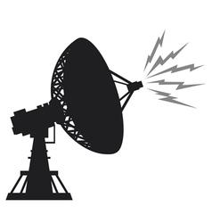 Radar silhouette vector