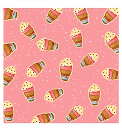 Pattern ice cream vector