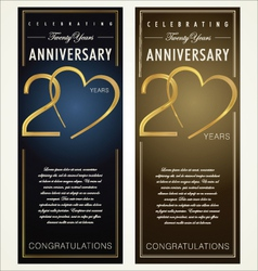 20 years anniversary banner vector
