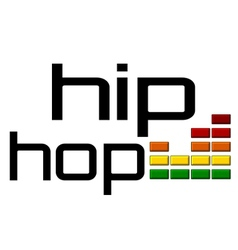 hip hop with dj equalizer music volume -on alpha vector image