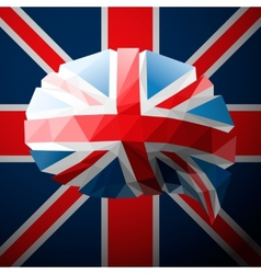 British flag in the form of a speech bubble vector image