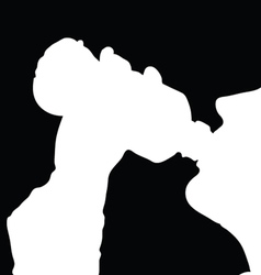 Drinking from the bottle vector