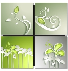 Eco green concept spring card vector