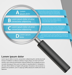 Infographic with a magnifying glass vector