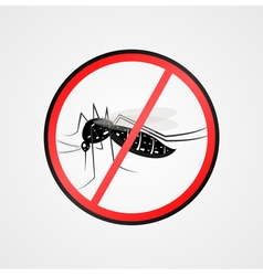Anti mosquito symbolmosquito warning sign vector