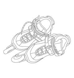 Roller skates 01 vector