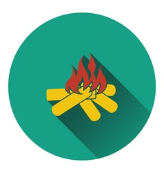 Icon of camping fire vector