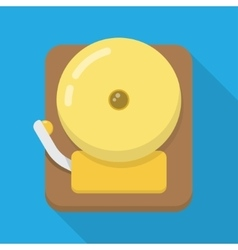 Alarm bell flat icon vector
