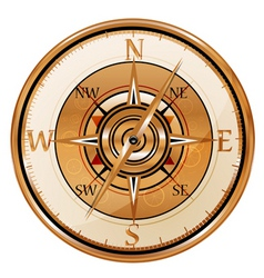 antique compass vector image vector image