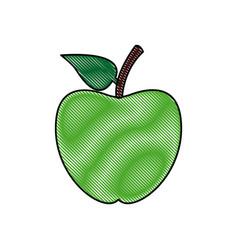 back to school apple symbol icon vector image vector image
