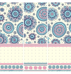 Beautiful vintage floral ornate banners vector