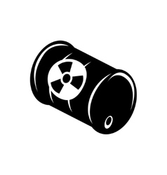 Black radioactive wastle ib barrel icon vector