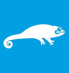 chameleon icon white vector image