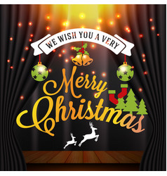 Christmas and happy new year with typography vector