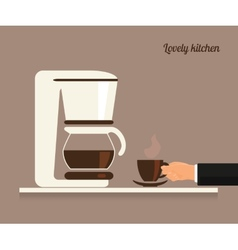 Cup of coffee vector image vector image