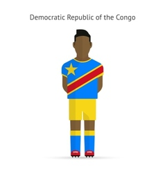 Democratic republic of the congo football player vector