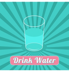 Drink water starburst blue background infographic vector