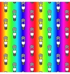 Energy saving light bulbs seamless pattern vector image