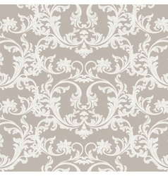 Floral ornament damask pattern vector
