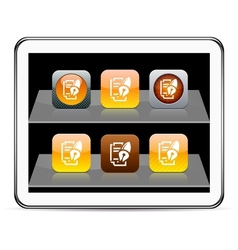 Form and pen orange app icons vector image vector image