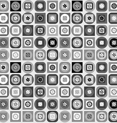 Geometrical shapes background in black and white vector image vector image