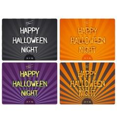 Halloween design lettering vector