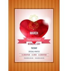 Heart on a light international happy women s day vector
