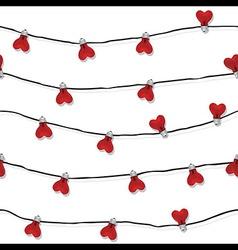 Heart seamless love light bulb wedding vector