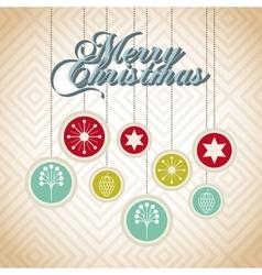 Merry christmas ball holiday december vector
