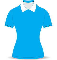 polo shirt outline on white background04 01 vector image vector image