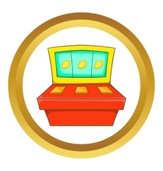 Slot machine icon vector image vector image