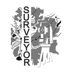 Symbol for surveyor vector